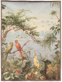 Parrots and Cockatoo tapestry - Tropical wall tapestries