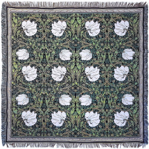 Pimpernel Throw by William Morris - Arts and Crafts designs