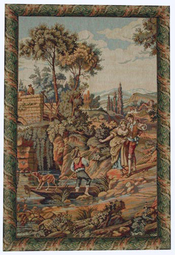 At the Country Lake tapestry - 18th century tapestries