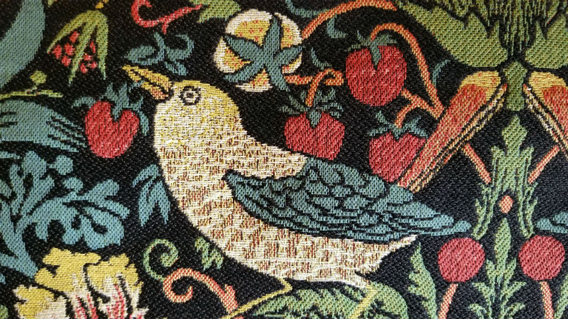 Strawberry Thief tapestry by William Morris detail
