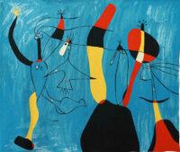 Pour Pilar de Tout Coeur tapestry - Joan Miro wall-hanging tapestries