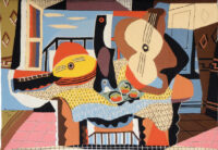 Mandolin and Guitar 1924 tapestry - Pablo Picasso wall-hanging tapestries