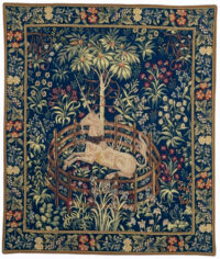 Unicorn in Captivity tapestry - Metropolitan Cloisters tapestries