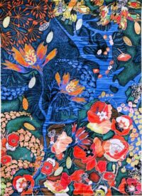 Le Jardin De Tal - Contemporary Garden of Eden Tapestry