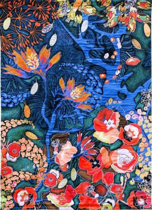 Le Jardin De Tal - Contemporary Garden of Eden Tapestry